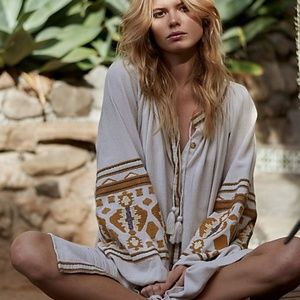 Free People Oversized In The Clear Tunic Dress M